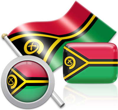 Vanuatuan flag icons pictures collection