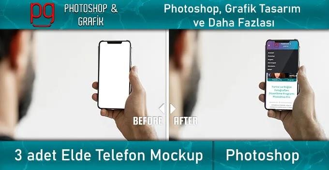 Elde Telefon Mockup   Hand Holding Phone Mockup