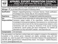 Apparel Export Promotion Council Jobs 2020