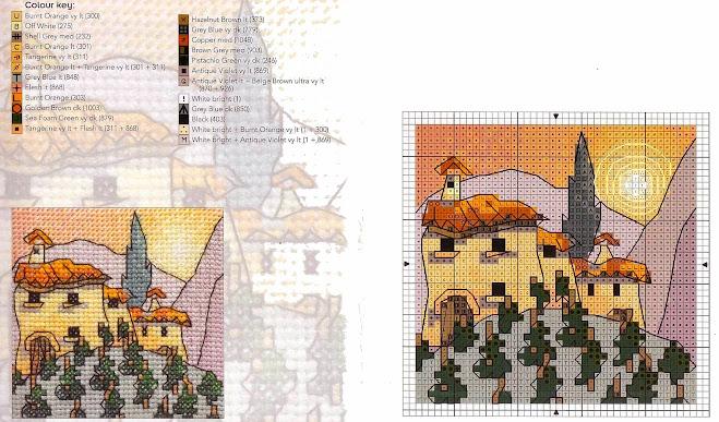 Michael Powell art  cross stitch pattern