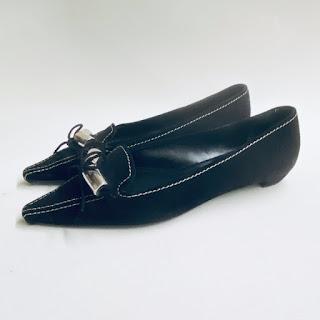 Prada Black Suede Flats