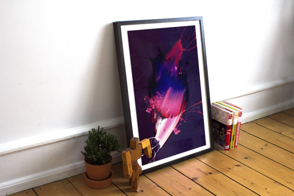 Free Realistic Poster/Frame Mockup