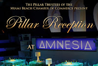 Thank to all who joined us at the Miami Beach Chamber of Commerce Pillar Trustee Members reception at Amnesia. We would like to thank Sugar Beach Catering for the wonderful hors d'oeuvres! Also a great performance by singer and songwriter SJ!!
