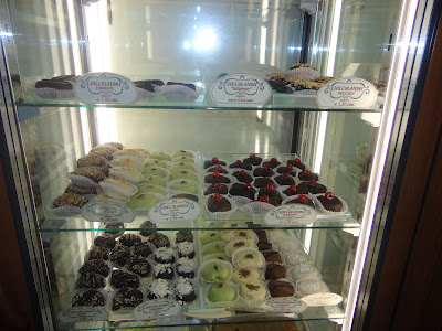 Sweets and chocolates at Montalcino's Mariuccia pastry shop