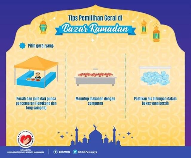 Tips beli makanan di bazar Ramadhan