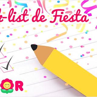Check List: Organizador para Fiesta de Cumpleaños