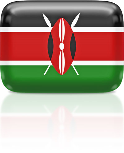 Kenyan flag clipart rectangular