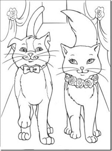 gatos colorear jugarycolorear (10)