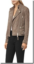 All Saints mushroom suede jacket