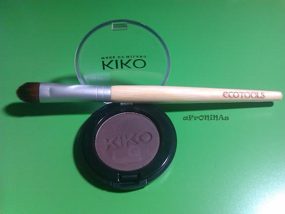 sombra maquillaje, sombra marrón, maquillaje, kiko, kiko make up, ecotools, brocha sombra maquillaje