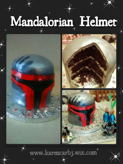 mandalorian helmet, star wars cakes, mona de Pascua star wars, tartas frikis