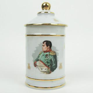 Limoges Porcelain Napoleon & Bee Lidded Canister