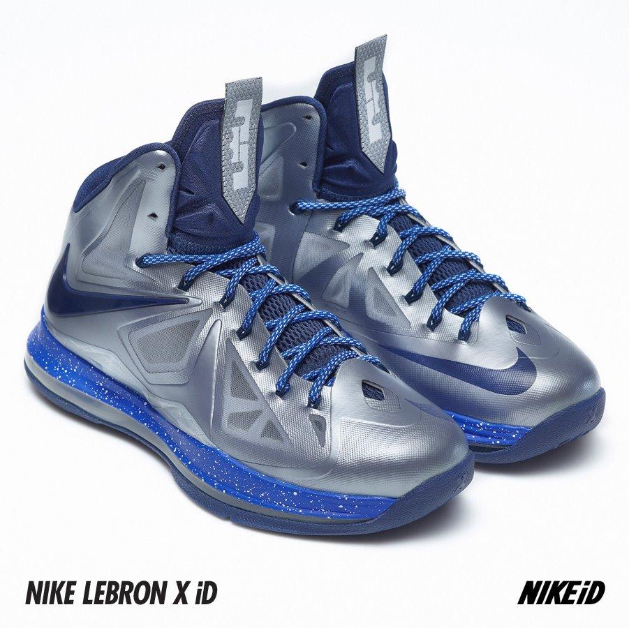 ... New Nike LeBron X iD Samples Atomic Green amp SilverNavy ... 2ecaac9543