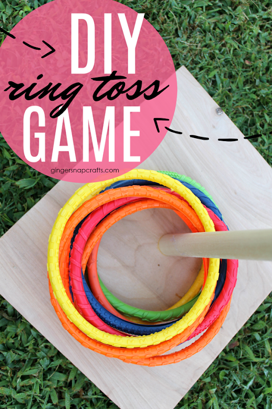 DIY Ring Toss Game at GingerSnapCrafts.com #games #DIY #kids