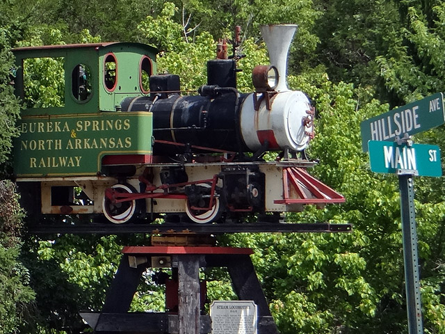 Eureka Springs railway museum train