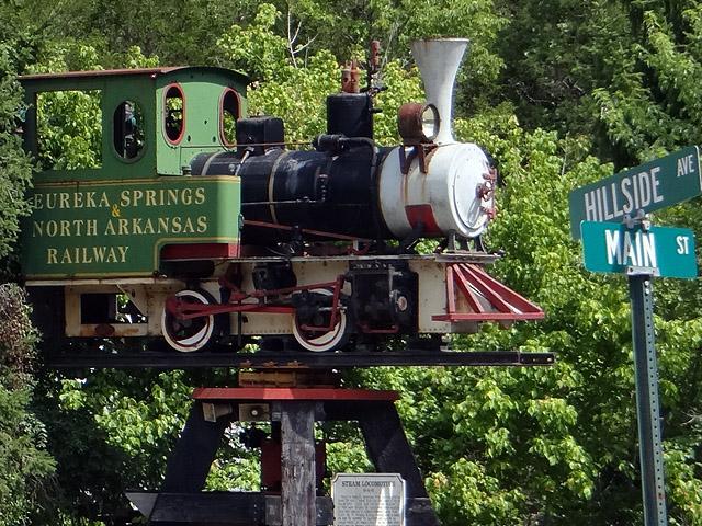Eureka Springs railway museum train
