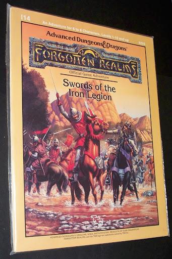 I14 SWORD OF THE IRON LEGION (TSR, 1988), un antologia di avventure con batteglie fra eserciti giocabili con il Battlesystem. Questo è un modulo per la PRIMA edizione di AD&D