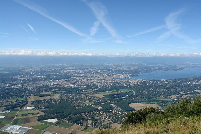 Panorámica de la ciudad de Ginebra