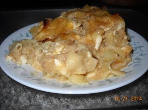 Easy Applesauce Noodle Kugel