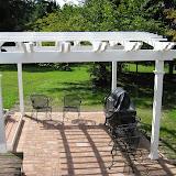 Vinyl pergola and paver patio Newport News, VA