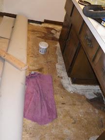 bathroom, geting fixed up