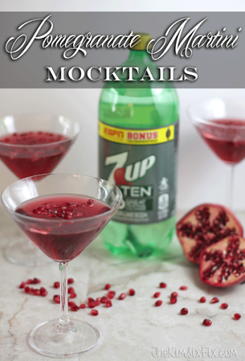 Pomegranate martini mocktails