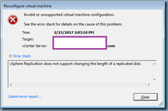 """Terence Luk: """"vSphere Replication does not support changing the"""