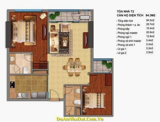 bán chung cư Times City T2 T3 căn 94.3m2
