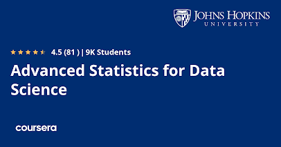 best Statistics course for Data Science online
