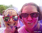 Julie and I, post PURPLE. The color powder does NOT taste good.