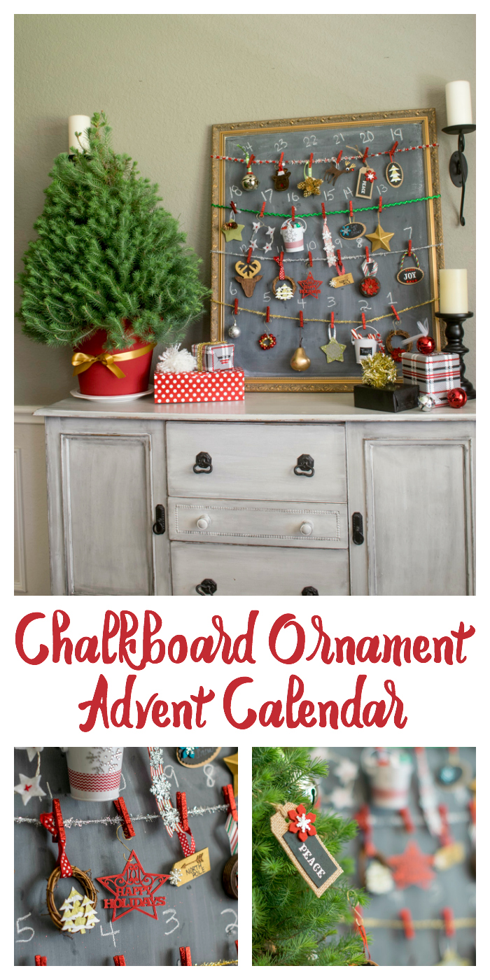 Chalkboard Ornamenet Advent Calendar