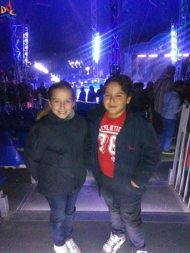 Aida y Marcos disfrutaron de una tarde en el circo