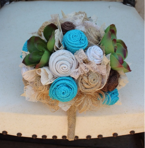 Rustic, vintage, wedding bouquet