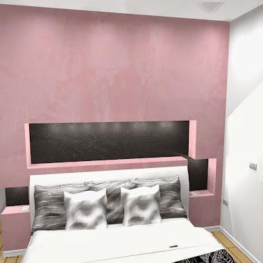 Camera da letto a Pordenone. Realizzato con pareti e nicchie in ...