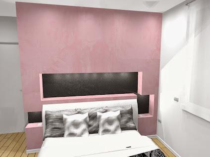 camera da letto a pordenone. realizzato con pareti e nicchie in