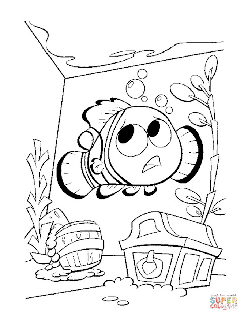 Click The Nemo In The Aquarium Coloring Pages To View Printable