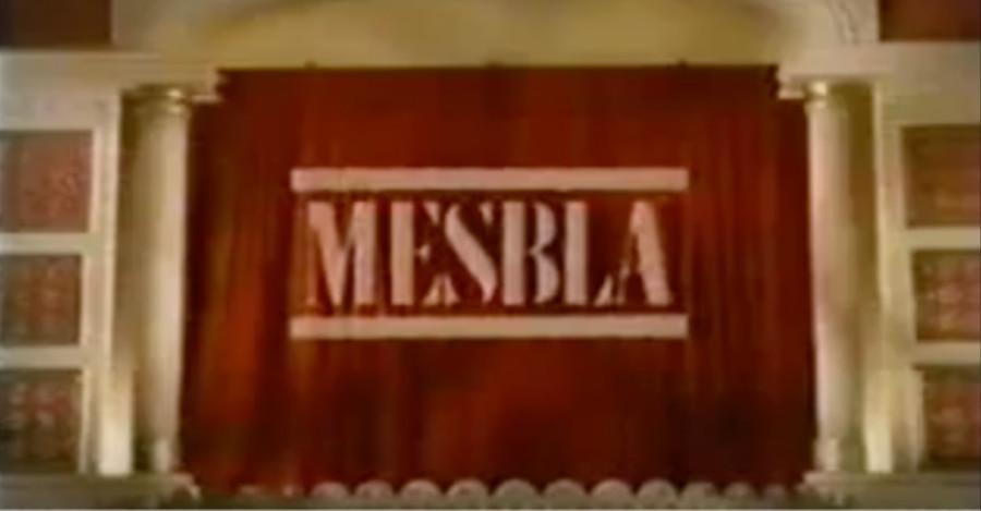 Propaganda natalina da Mesbla promovendo diversas culturas mundiais em um jingle empolgante