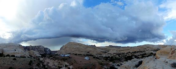 Roll cloud looming above the San Rafael Reef