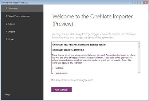 Instalar Importador de Evernote a Onenote