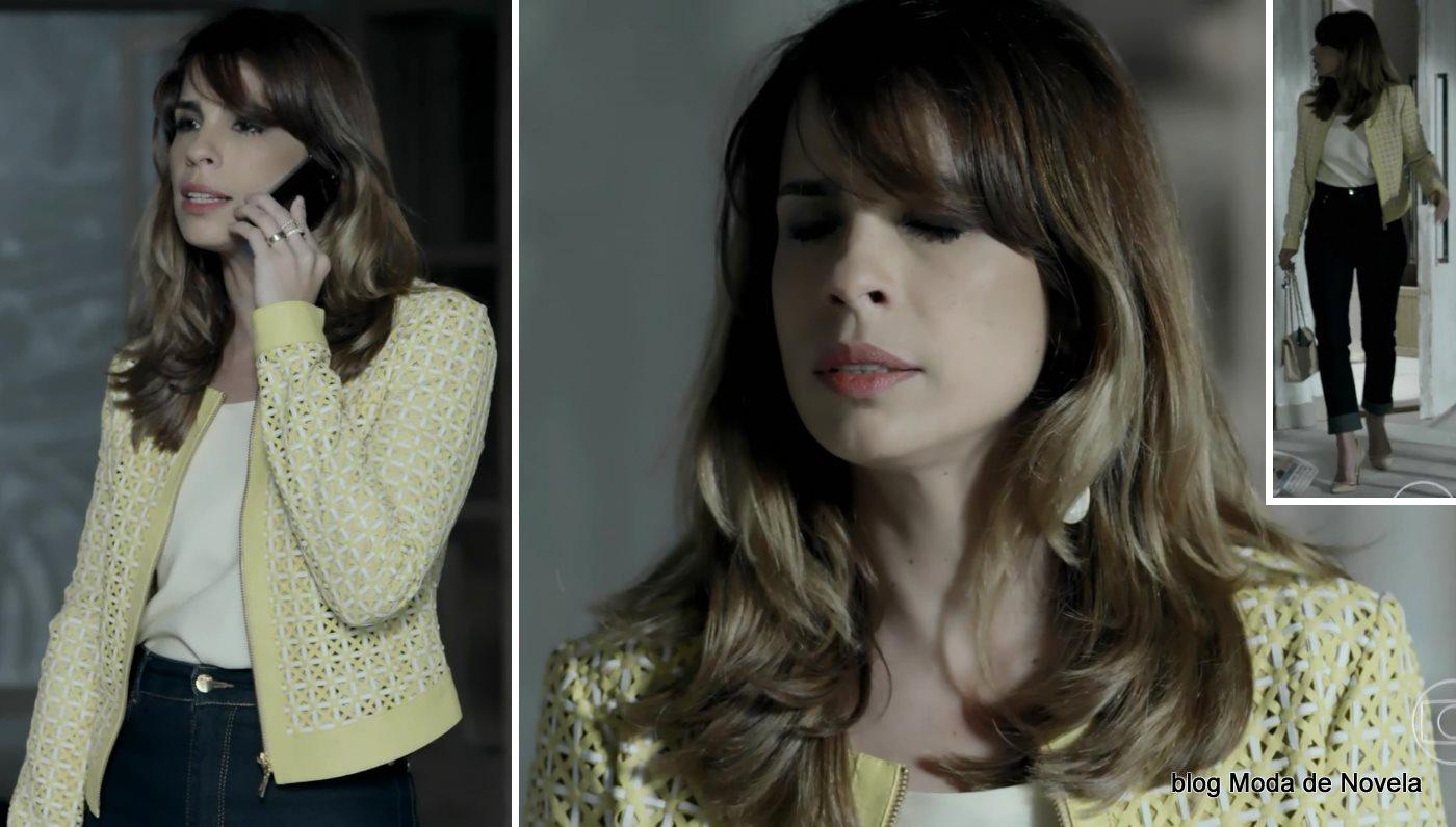 moda da novela Império - look da Danielle dia 16 de setembro