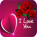 Romantic images, I love you, Roses and flowers Gif icon
