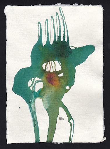 Frau Nase. Artist Andrea Hupke de Palacio. Experiences: An Online Gallery Show of Small Paintings