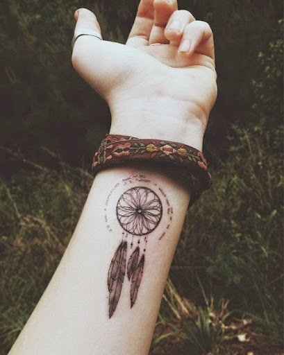 wrist names Dreamcatcher Tattoos