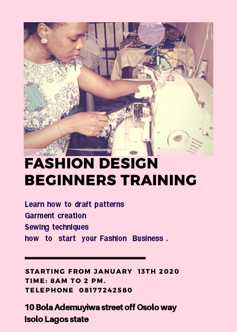 Fashion Design Training Isolo Lagos Fashion School