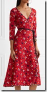 Marc Jacobs Floral Print Silk Midi Dress