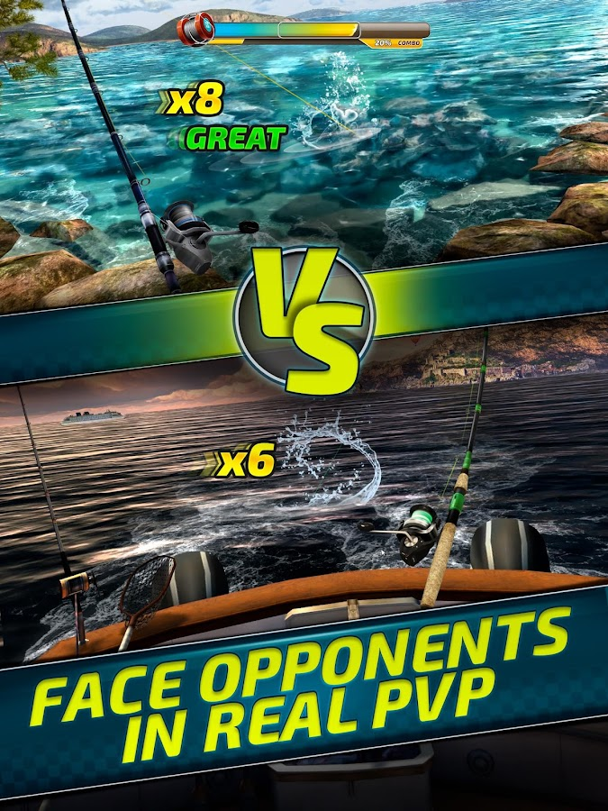 Extreme sport fishing 3d game fishing simulator for Fishing tournament app