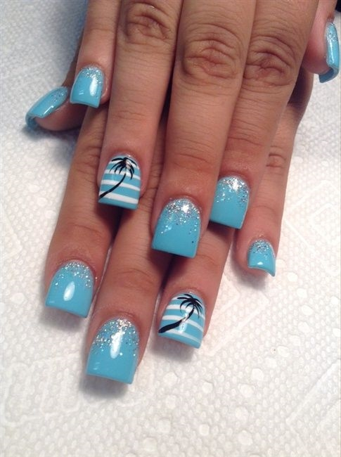 Hot Tropical Nail Art Sunsets, Sea Turtles And Sandy ...