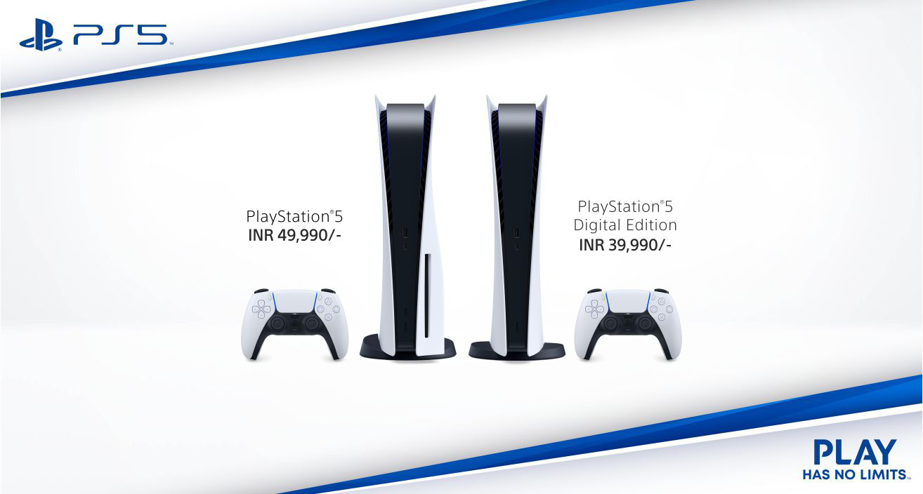 ps5 price in india, ps5 digital edition price in india