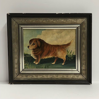 Signed Oil Painting of Dog