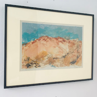 Signed 'Copper Hills' Monotype